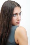 Beau brunette du brunette photographie stock