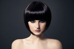 Beau Brunette Girl.Healthy Hair.Hairstyle. Photo libre de droits