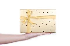 beau cadeau de cadre d'or Image libre de droits