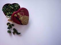 Beau cadeau de mariage, cadeau de valentine Photos libres de droits
