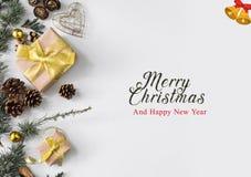 Beau cadeau de Noël et de nouvelles années illustration stock