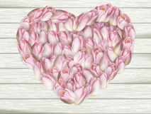 Beau cadre de fleur dans la forme de coeur ENV 10 Photos libres de droits