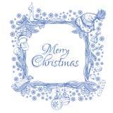 Beau cadre de place de Noël fait de branches Image libre de droits