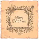 Beau cadre de place de Noël fait de branches Images libres de droits
