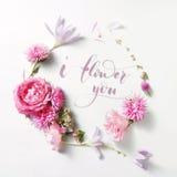 Beau cadre des roses dans le style de vintage Photo libre de droits