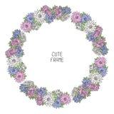 Beau cadre floral de vecteur Illustration Photos libres de droits