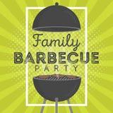 Beau calibre de conception d'invitation de partie de barbecue Conception à la mode d'affiche de barbecue de BBQ Images stock