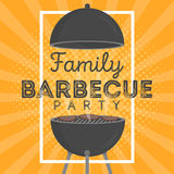 Beau calibre de conception d'invitation de partie de barbecue Conception à la mode d'affiche de barbecue de BBQ Photo stock