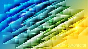 Beau calibre de couverture/en-tête Dessin géométrique de triangle illustration de vecteur