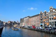 Beau canal d'Amsterdam Images libres de droits