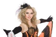 Beau cancan blond de danse de fille. Photos stock
