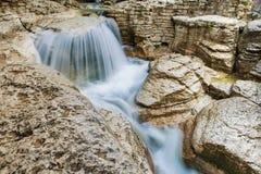 beau canyon d'Okatse en Géorgie Photo stock