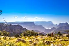 Beau canyon de rivière de Blyde près de trois rondavels en Sabie Graskop Mpumalanga South Africa images libres de droits