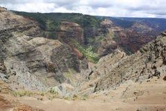 Beau canyon de Waimea, îles de Hawaiin Image libre de droits