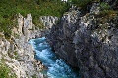 Beau canyon en Norvège Photographie stock