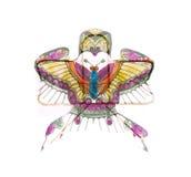 Beau cerf-volant chinois de dragon d'isolement Image libre de droits