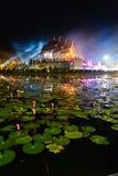 Beau château d'or de Horkumluang de chiangmai Thaïlande Photographie stock libre de droits