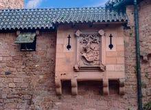 Beau château de brique rouge de Haut-Koenigsbourg en Alsace Photos libres de droits