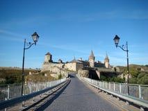 Beau château médiéval chez Kamenets-Podolsky Photo libre de droits