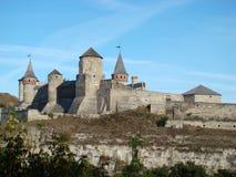 Beau château médiéval chez Kamenets-Podolsky Image libre de droits