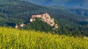 Beau château Oravsky Podzamok près de Dolny Kubin en Slovaquie photos libres de droits