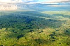 Beau champ de vert de fond de modèle de myanmar de l'air Photographie stock libre de droits