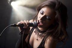 Beau chant de fille Image libre de droits
