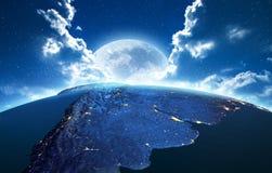 beau chiffre dimensionnel illustration trois du sud de 3d Amérique très rendu 3d Image libre de droits