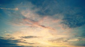 Beau ciel Photo stock