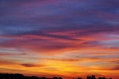 Beau ciel au coucher du soleil Photographie stock libre de droits