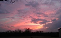 Beau ciel au coucher du soleil Photo libre de droits