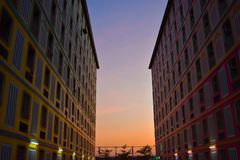 Beau ciel au dortoir Image stock