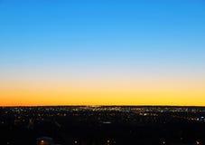 Beau ciel avant lever de soleil Images libres de droits