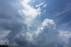 Beau ciel bleu idyllique avec le nuage Image stock