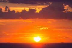 Beau ciel de coucher du soleil Photo libre de droits