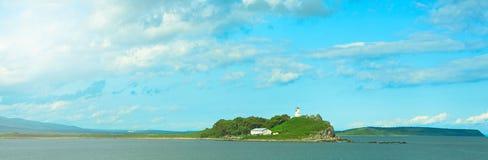 Beau ciel de paysage de mer de bannière avec des nuages Photographie stock