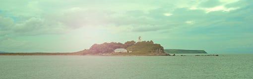 Beau ciel de paysage de mer de bannière avec des nuages Images libres de droits
