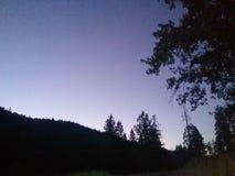 Beau ciel nocturne coloré Images stock