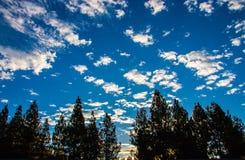 Beau ciel nuageux au lever de soleil photo stock