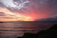 Beau ciel pendant le coucher du soleil à Cape Town Afrique du Sud image libre de droits
