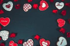 Beau coeur de pain d'épice Image stock