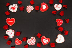 Beau coeur de pain d'épice Photographie stock libre de droits