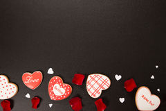 Beau coeur de pain d'épice Photos libres de droits