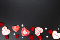 Beau coeur de pain d'épice Photo stock