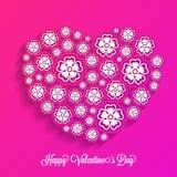 Beau coeur pour la célébration de jour du ` s de Valentine Photos stock