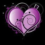Beau coeur pourpré Images stock