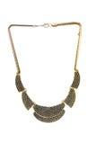 Beau collier original d'or pour des femmes Image libre de droits