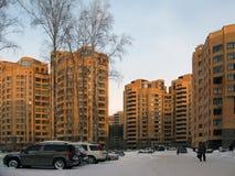 Beau complexe résidentiel en Russie Photographie stock libre de droits