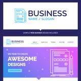 Beau composant de marque de concept d'affaires, données, conception, h illustration de vecteur
