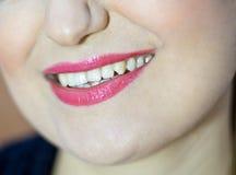 Beau composez des lèvres de lustre Photo libre de droits
